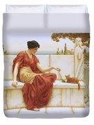 The Favorite Duvet Cover by John William Godward