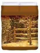 The Fence Duvet Cover