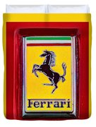 The Ferrari Logo Duvet Cover