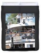 The Ferry Arrives Duvet Cover