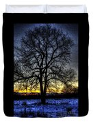 The Field Tree Hdr Duvet Cover