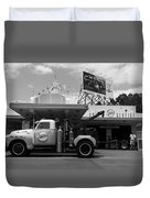 The Fill-in Station Duvet Cover by Michael Tesar