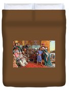The Finding Of The Savior In The Temple Duvet Cover by William Holman Hunt