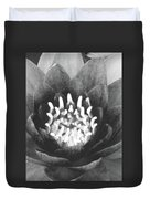 The Fire Inside - Water Lily 02 - Bw Duvet Cover