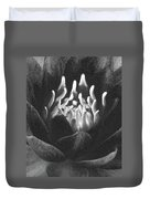 The Fire Inside - Water Lily - Bw Duvet Cover