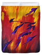 The Fire Of Life Duvet Cover