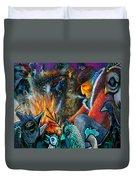 The Fire Tender Duvet Cover