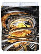 The Fire Within Abstract Duvet Cover
