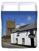 The First And Last Inn In England Duvet Cover
