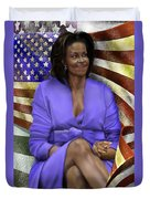 The First Lady-american Pride Duvet Cover by Reggie Duffie