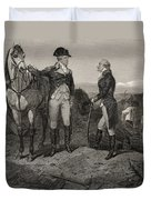 The First Meeting Of George Washington And Alexander Hamilton Duvet Cover