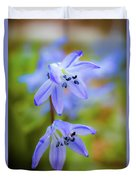 The First Spring Flowers Duvet Cover