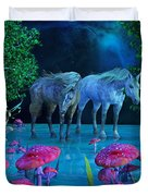 The First Time We Saw Horses Duvet Cover