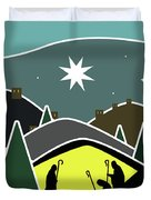 The First Visitors White Version Duvet Cover