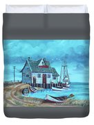 The Fish House Duvet Cover