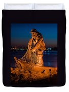 The Fisherman After Nightfall Duvet Cover