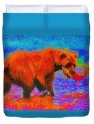 The Fishing Bear - Da Duvet Cover