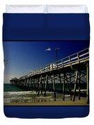 The Fishing Pier Duvet Cover