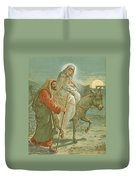 The Flight Into Egypt Duvet Cover by John Lawson
