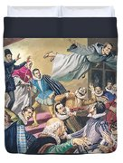 The Flight Of Father Dominic Duvet Cover by English School
