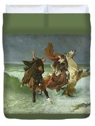 The Flight Of Gradlon Mawr Duvet Cover by Evariste Vital Luminais