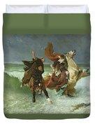 The Flight Of Gradlon Mawr Duvet Cover by Evariste Vital Luminais