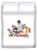 The Flockstars Duvet Cover by Sarah Rosedahl