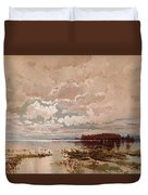 The Flood In The Darling 1890 Duvet Cover