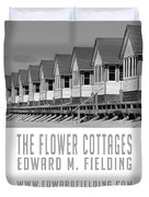 The Flower Cottages By Edward M. Fielding Duvet Cover
