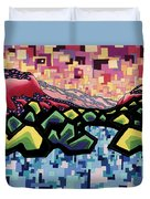 The Fluctuation Of Matter And Spirit Duvet Cover