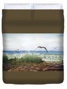 The Flying Instant Of Surf Duvet Cover