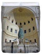 The Fontana Della Pigna In The Vatican City Duvet Cover