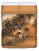 The Foraging Hussar 1840 Duvet Cover