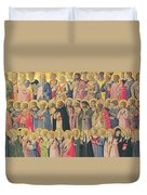 The Forerunners Of Christ With Saints And Martyrs Duvet Cover