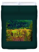 The Forest Echoes With Laughter Duvet Cover