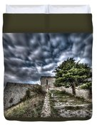 The Fortress The Tree The Clouds Duvet Cover by Enrico Pelos