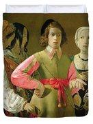 The Fortune Teller Duvet Cover by Georges de la Tour