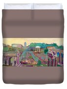 The Forum Romanum Duvet Cover
