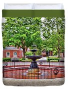 The Fountain At Radford University Duvet Cover