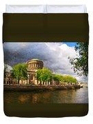 The Four Courts In Reconstruction 2 Duvet Cover