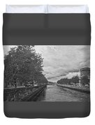 The Four Courts In Reconstruction 3 Bw Duvet Cover