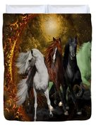 The Four Horses Of The Apocalypse Duvet Cover