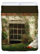 The Four Leaf Clover Duvet Cover by Winslow Homer