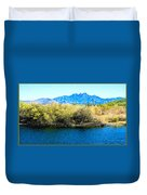 The Four Peaks From Saguaro Lake Duvet Cover