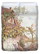 The Fox And The Grapes Duvet Cover