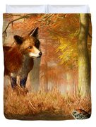 The Fox And The Turtle Duvet Cover