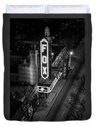 The Fox Thearter Bw Atlanta Night Art Duvet Cover