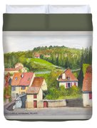 The French Village Of Billy In The Auvergne Duvet Cover
