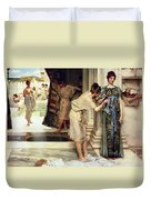 The Frigidarium Duvet Cover by Sir Lawrence Alma-Tadema