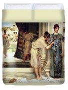 The Frigidarium Duvet Cover by Sir Lawrence Alma-Tadema